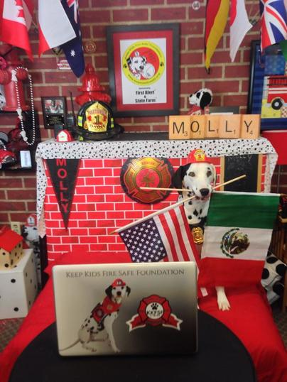 Global Connections With Molly The Fire Safety Dog